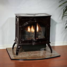 Empire Cast Iron Stove, Porcelain Mahogany